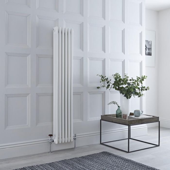 Milano Windsor - White Vertical Traditional Column Radiator - 1500mm x 290mm (Triple Column)