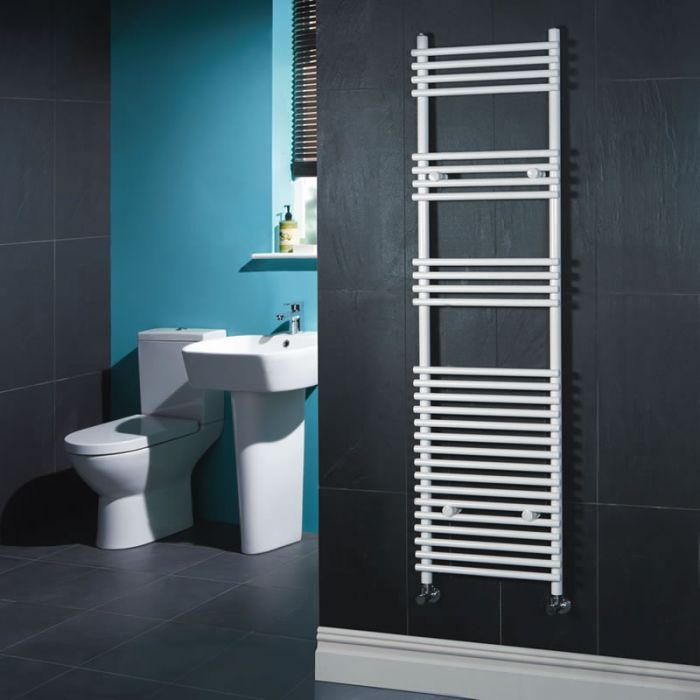 Kudox - Flat White Bar on Bar Towel Rail 1650mm x 450mm