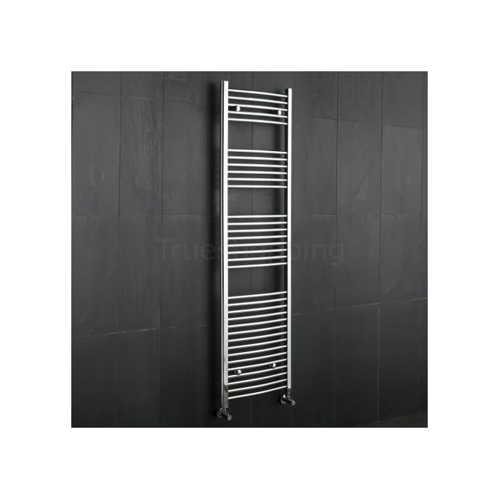 Kudox - Premium Chrome Curved Heated Bathroom Towel Radiator Rail 1800mm x 500mm