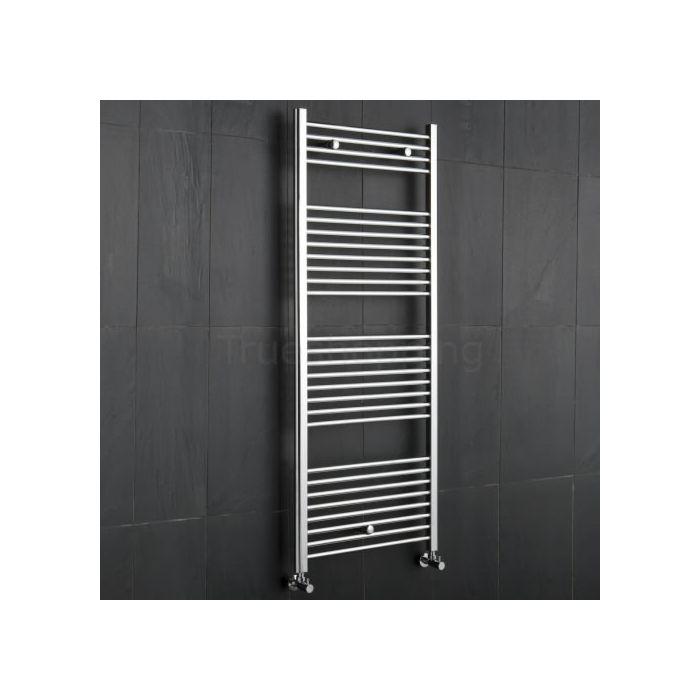 Kudox - Premium Chrome Flat Heated Bathroom Towel Radiator Rail 1500mm x 600mm