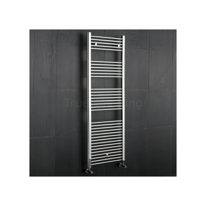 Kudox - Premium Chrome Flat Heated Bathroom Towel Radiator Rail 1800mm x 600mm
