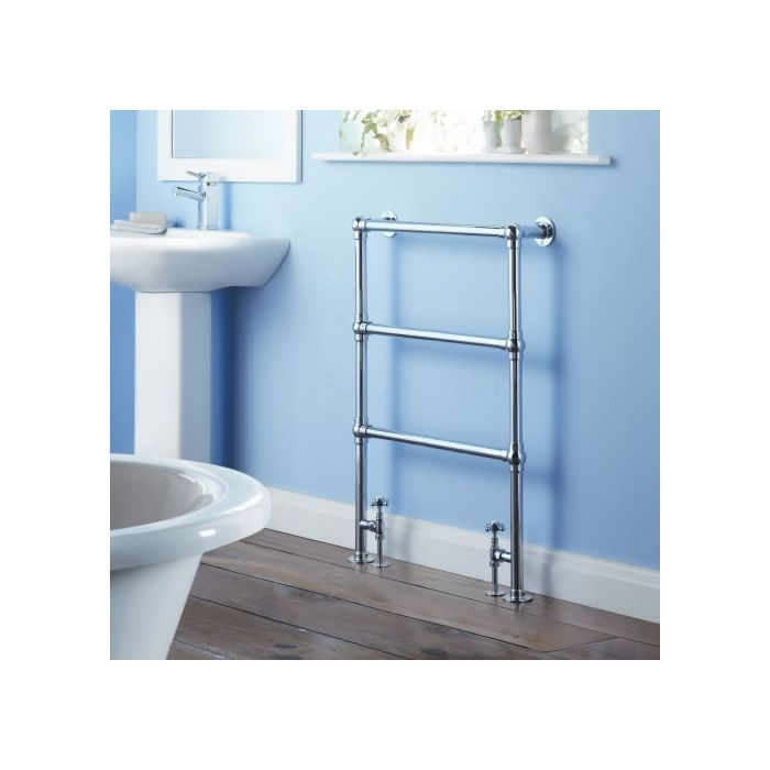Milano Derwent - Traditional Brass Heated Bathroom Towel Radiator 930mm x 630mm