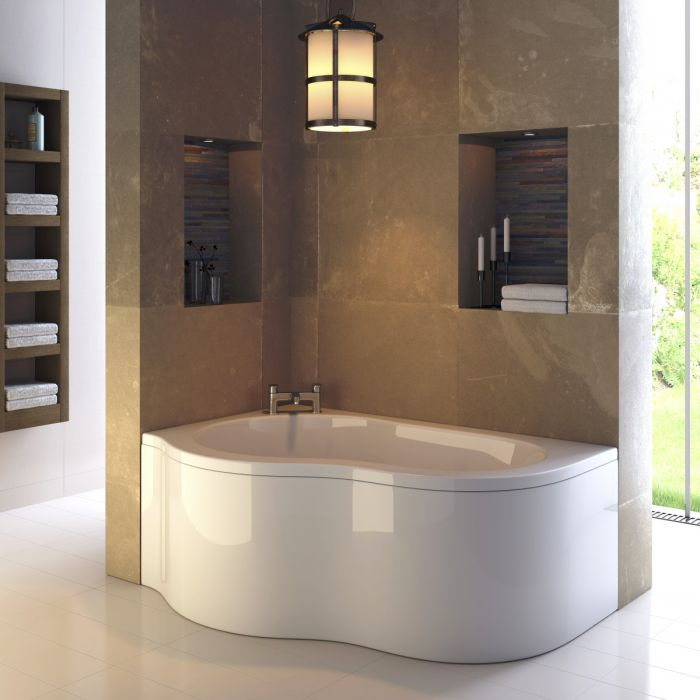 Premier Estuary - 1500mm x 1000mm Corner Bath and Panel - Left Hand