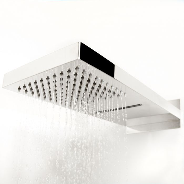 Hudson Reed Chrome Fixed Shower Head With Waterblade