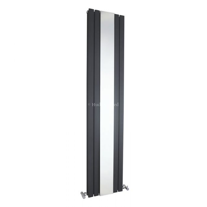 Hudson Reed Sloane - Anthracite Double Panel Designer Radiator with Mirror 1800mm x 381mm