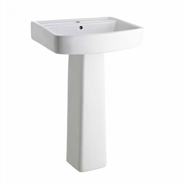 Premier Bliss - 520mm Basin with Full Pedestal - 1 Tap-Hole