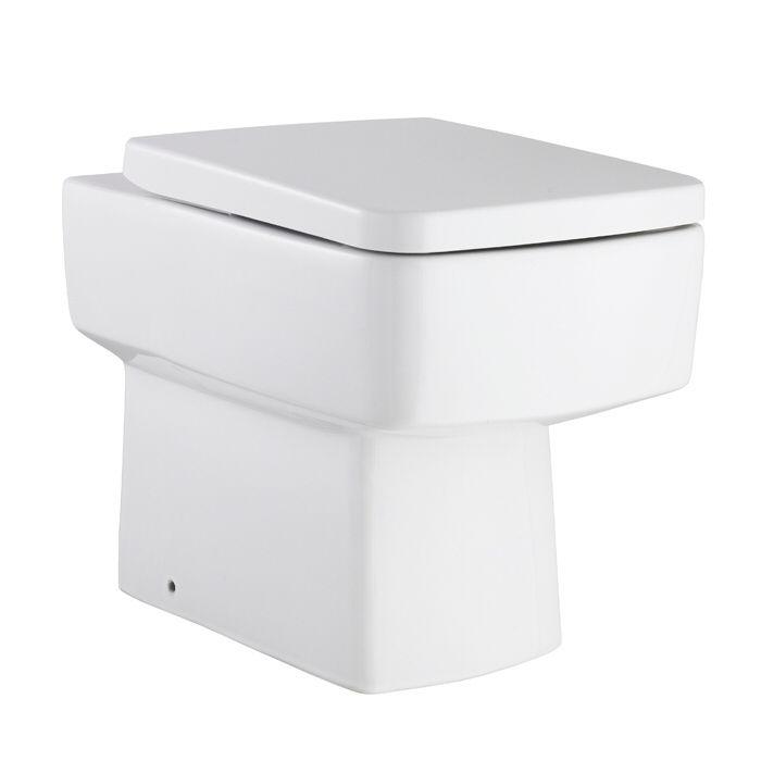 Milano Farington Back to Wall Toilet Pan with Seat