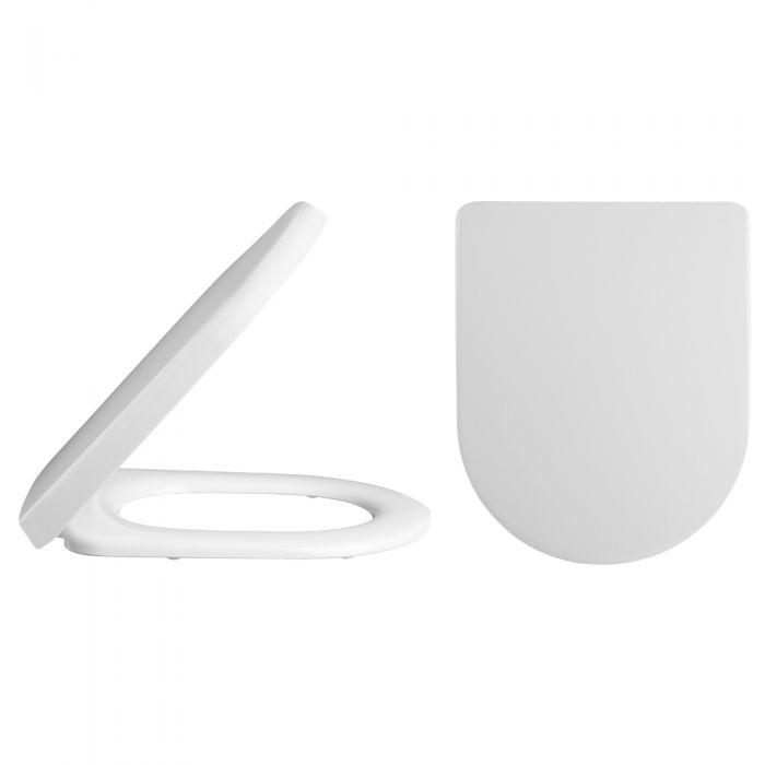 Milano Ballam Luxury D-Shape Soft Close Toilet Seat