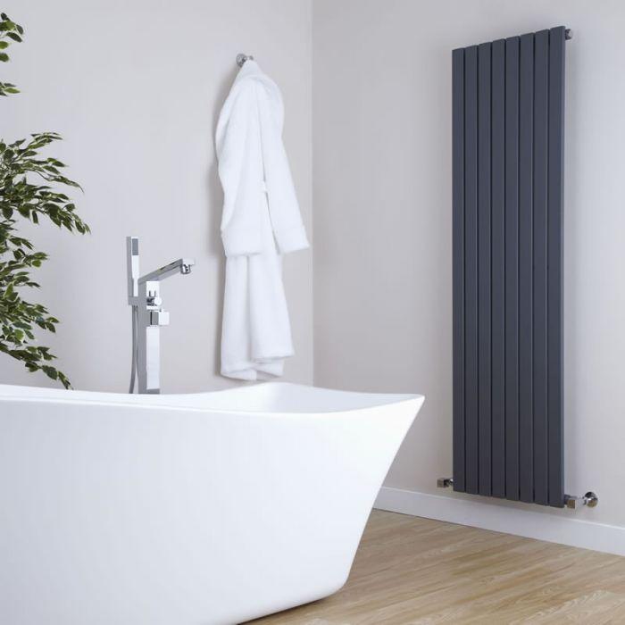 Milano Capri - Anthracite Flat Panel Vertical Designer Radiator - 1600mm x 472mm