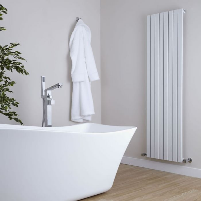 Milano Capri - White Vertical Designer Radiator - 1600mm x 472mm