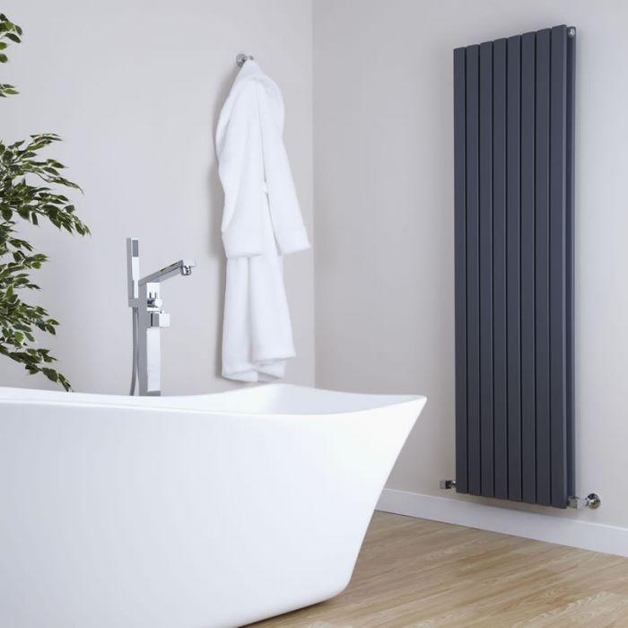 Milano Capri - Anthracite Flat Panel Vertical Designer Radiator - 1780mm x 472mm (Double Panel)