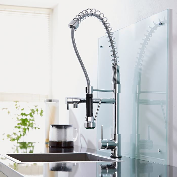 Milano Chrome Professional Kitchen Mixer Tap