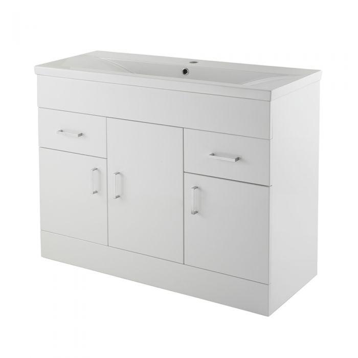 Premier White Minimalist 1000mm Vanity Unit