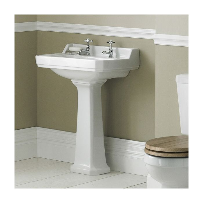 Old London Richmond 500mm 2TH Basin & Pedestal