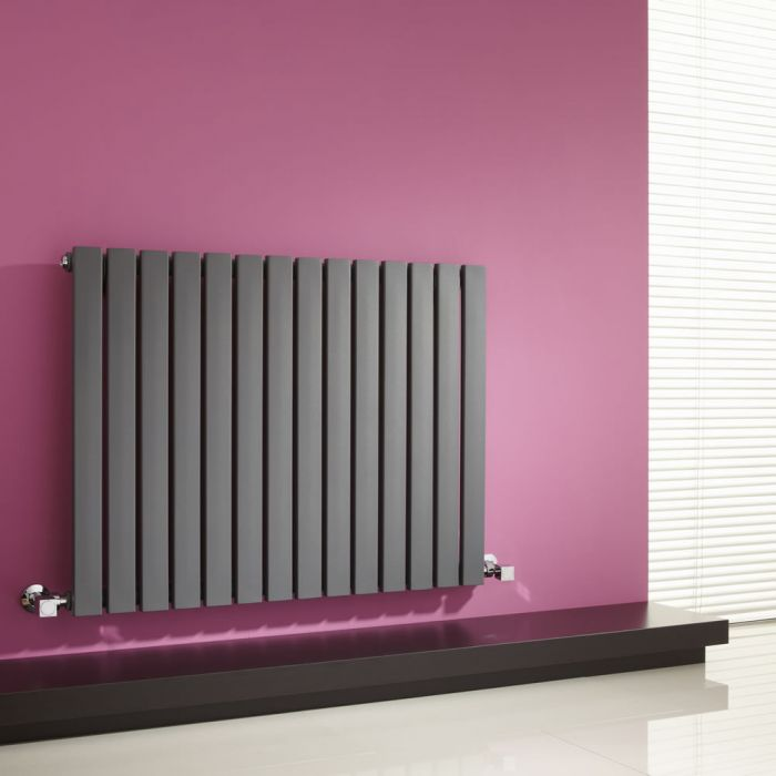 Milano Capri - Anthracite Flat Panel Horizontal Designer Radiator - 635mm x 834mm