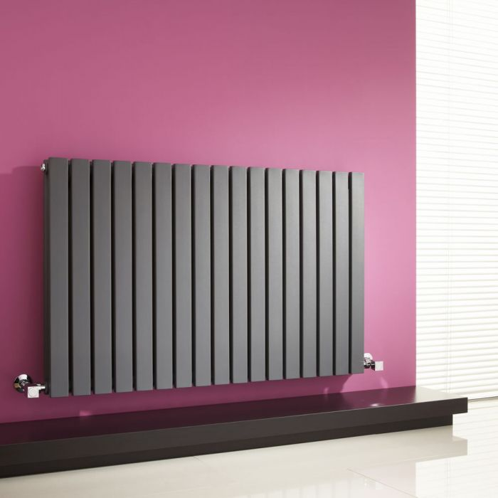 Milano Capri - Anthracite Horizontal Flat Panel Designer Radiator 635mm x 1000mm (Double Panel)