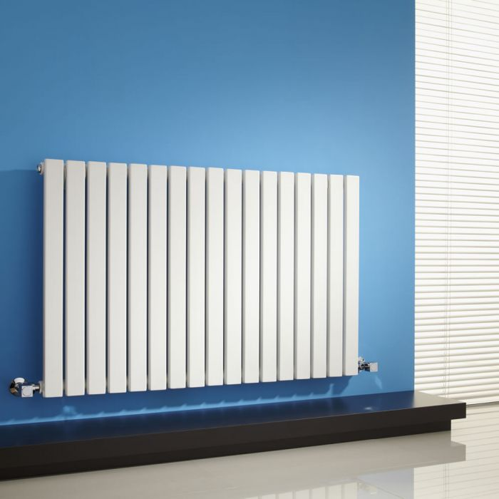 Milano Capri - White Horizontal Flat Panel Designer Radiator 635mm x 1000mm