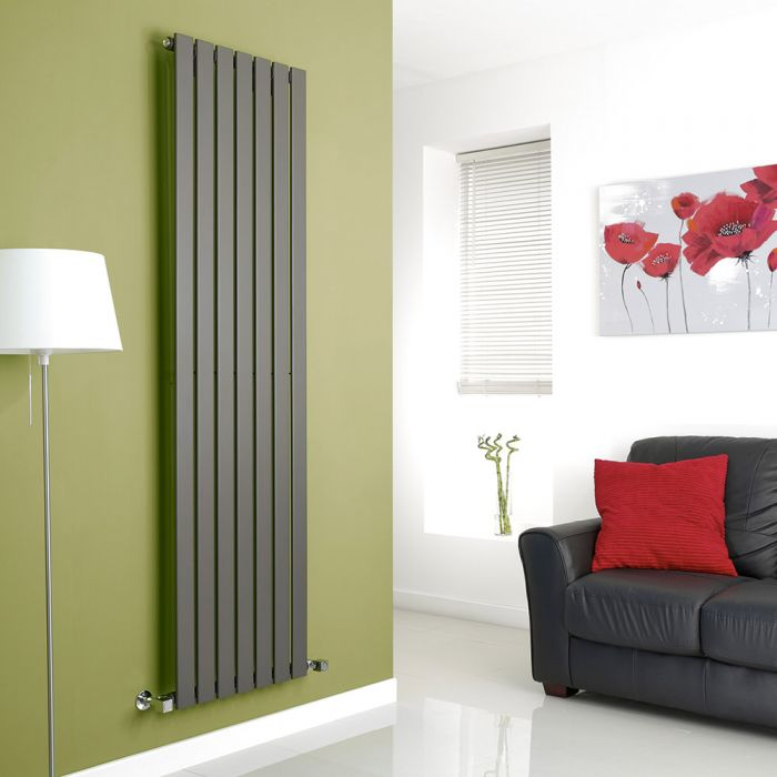 Milano Anthracite Vertical Single Slim Panel Designer Radiator 1780mm x 490mm