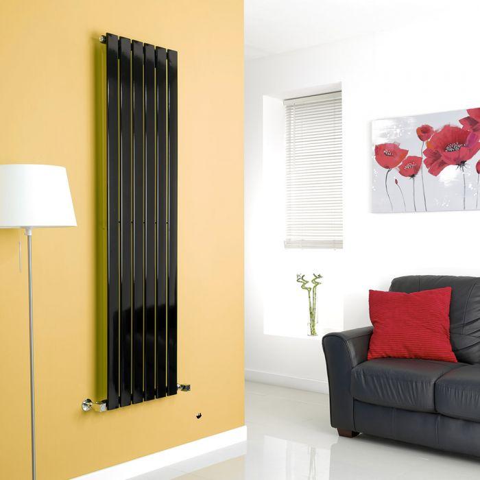 Milano Alpha - Black Vertical Flat Panel Designer Radiator - 1600mm x 420mm