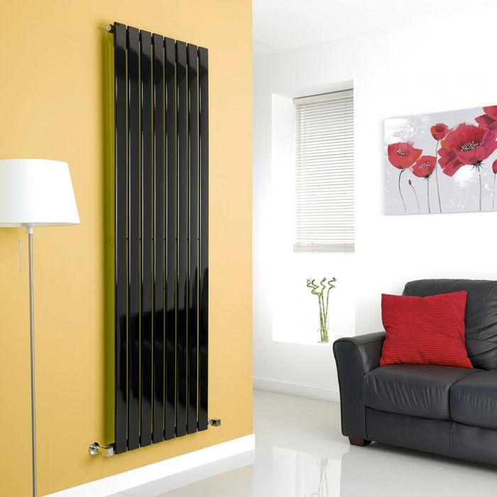 Milano Alpha - Black Flat Panel Vertical Designer Radiator - 1780mm x 560mm