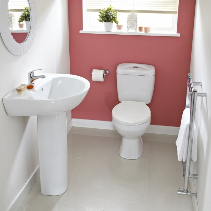 Premier Melbourne Modern Toilet and Basin Set