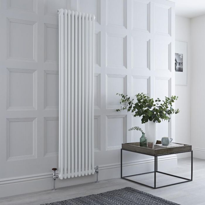 Milano Windsor - White Traditional Vertical Column Radiator - 1800mm x 470mm (Double Column)