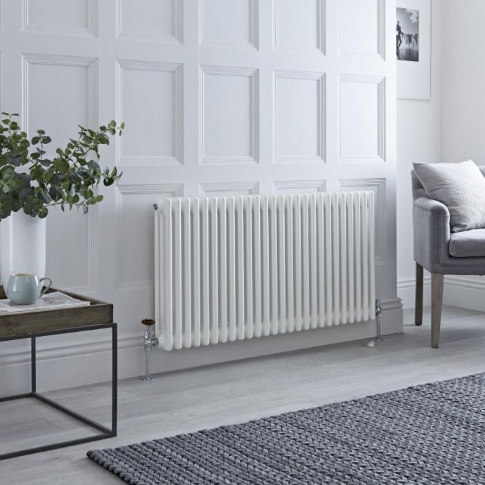 Milano Windsor - White Traditional Horizontal Column Radiator - 600mm x 1160mm (Triple Column)