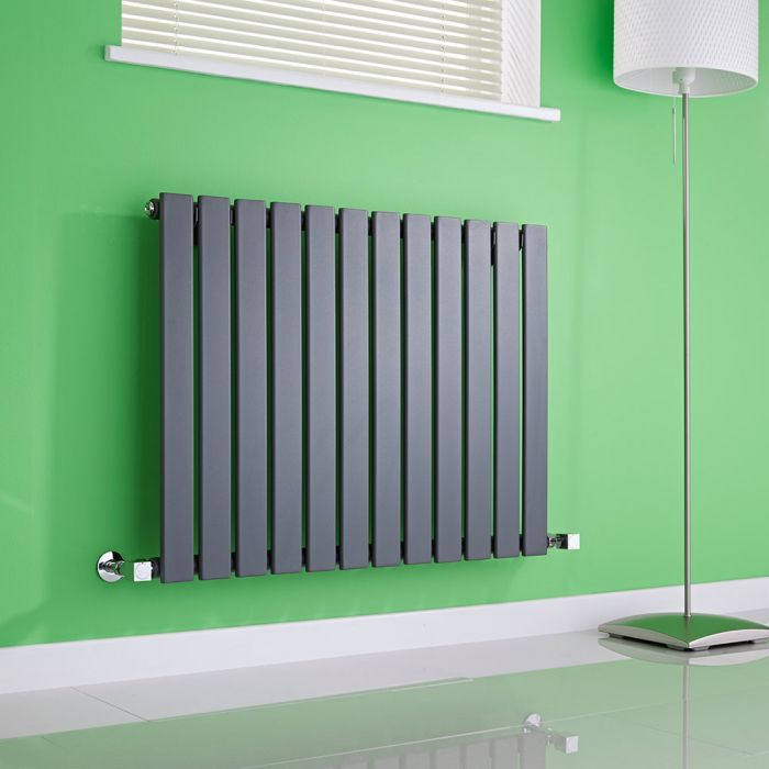 Milano Alpha - Anthracite Horizontal Flat Panel Designer Radiator - 635mm x 840mm
