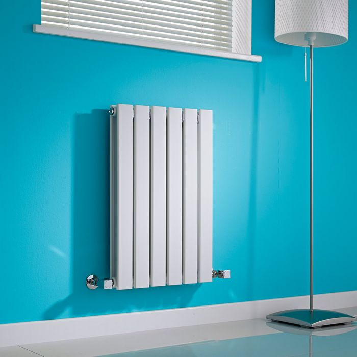 Milano Alpha - White Horizontal Flat Panel Designer Radiator - 635mm x 420mm (Double Panel)