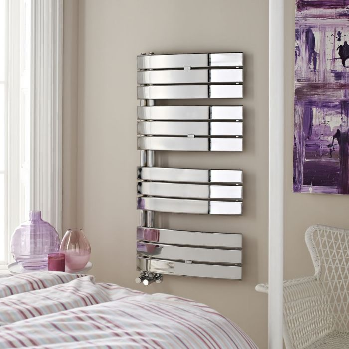 Hudson Reed Elgin - Chrome Designer Heated Towel Rail 1080mm x 550mm