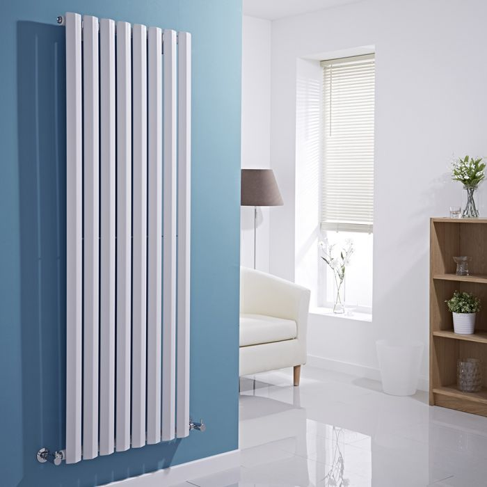 Milano Viti - White Vertical Diamond Panel Designer Radiator 1600mm x 560mm