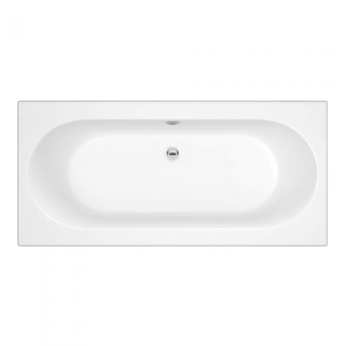 Milano Overton - 1700mm x 700mm Double Ended Standard Bath