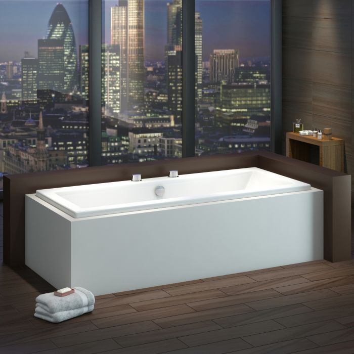 Milano Channel - 1700 x 700mm Double Ended Standard Bath