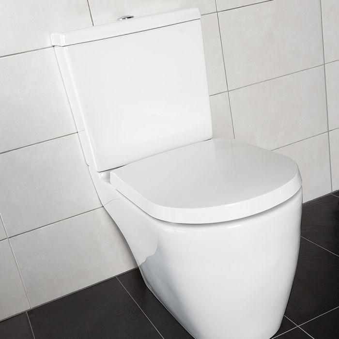 Milano Irwell Open Back WC inc. Cistern, Fittings & Soft Close Seat