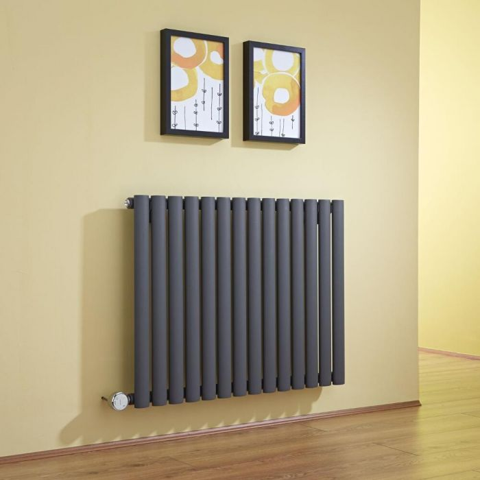 Milano Aruba - Luxury Anthracite Horizontal Bluetooth Equipped Electric Designer Radiator 635mm x 834mm