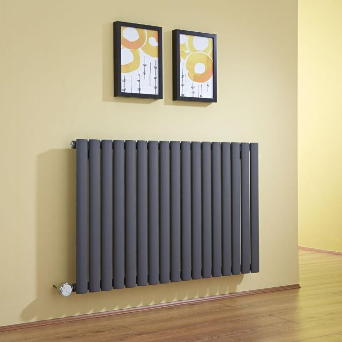 Milano Aruba - Anthracite Horizontal Electric Designer Radiator 635mm x 1000mm