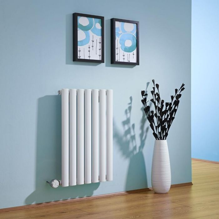 Milano Aruba - White Horizontal Electric Designer Radiator 635mm x 415mm