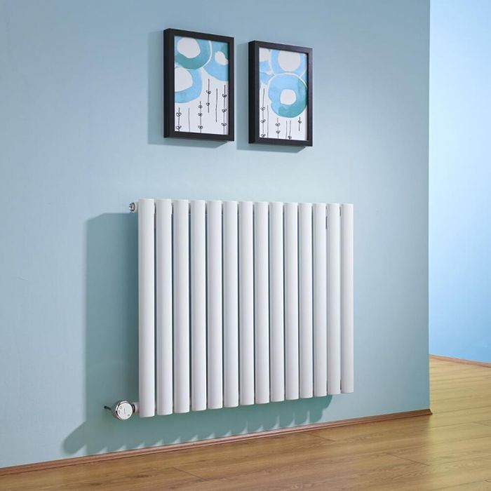 Milano Aruba - White Horizontal Bluetooth Equipped Electric Designer Radiator 635mm x 834mm