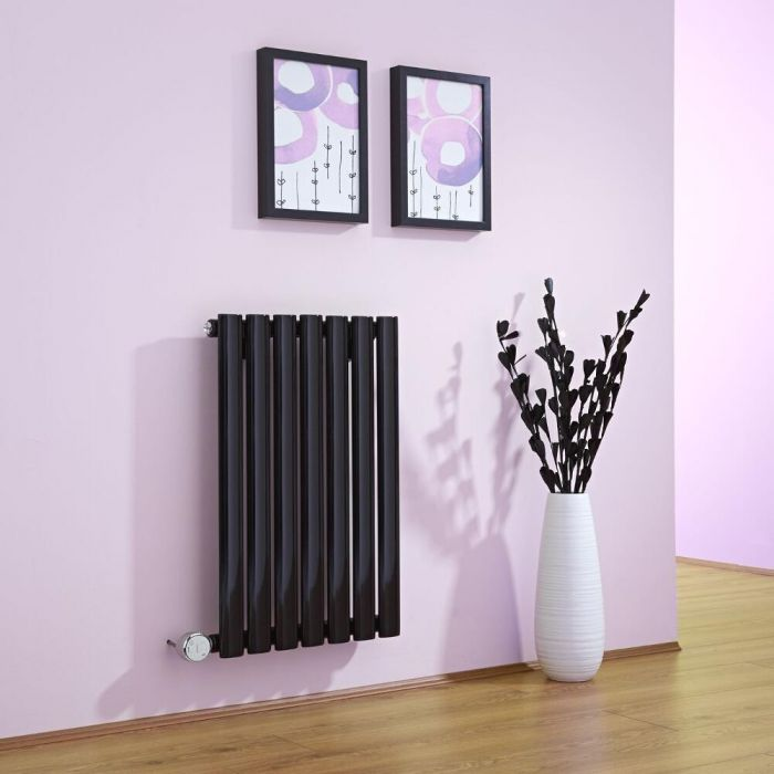 Milano Aruba - Black Horizontal Bluetooth Equipped Electric Designer Radiator 635mm x 415mm