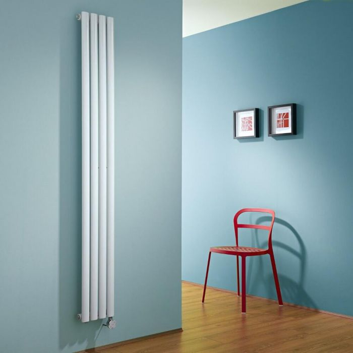 Milano Aruba Slim Electric - White Space-Saving Vertical Designer Radiator - 1780mm x 236mm