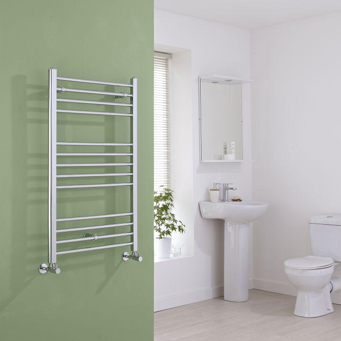 Milano Eco - Flat Chrome Heated Towel Rail - 1000mm x 600mm
