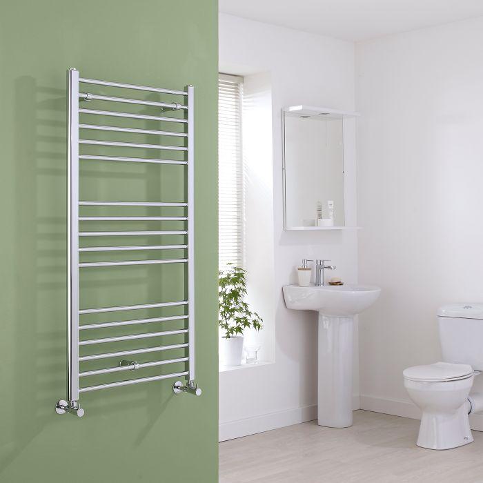 Milano Eco - Flat Chrome Heated Towel Rail 1200mm x 600mm