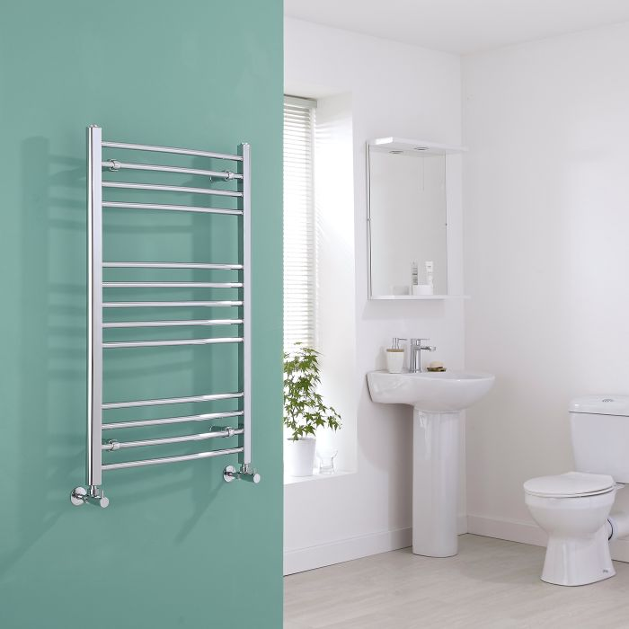 Milano Eco - Curved Chrome Heated Towel Rail 1000mm x 600mm