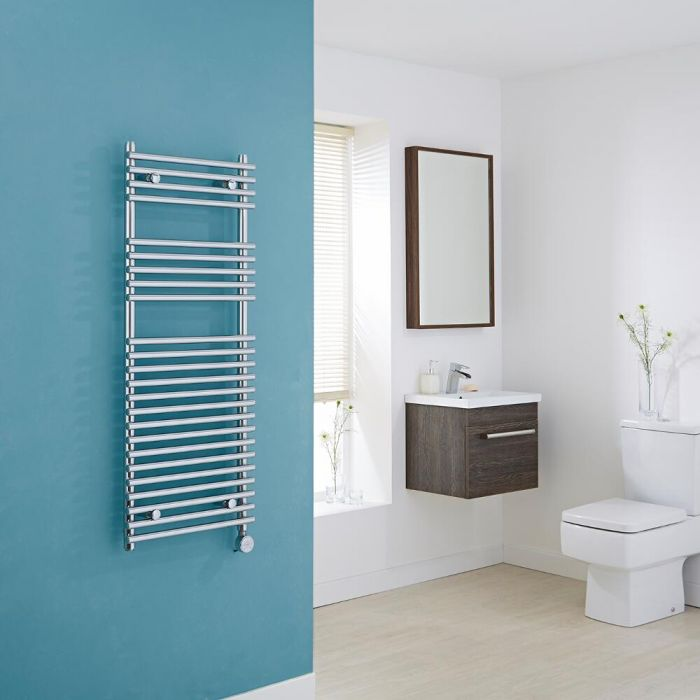 Kudox Electric - Flat Bar on Bar Heated Towel Rail - 1150mm x 450mm