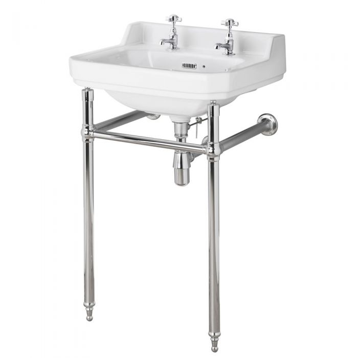Old London Richmond - 500mm Basin and Washstand - 2 Tap-Holes