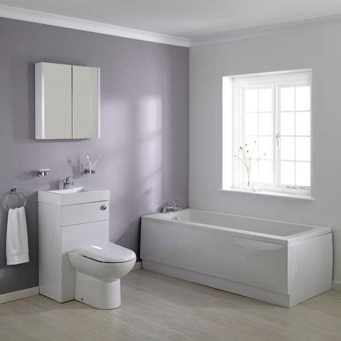 Milano 1700mm Combination WC Unit Bathroom Suite