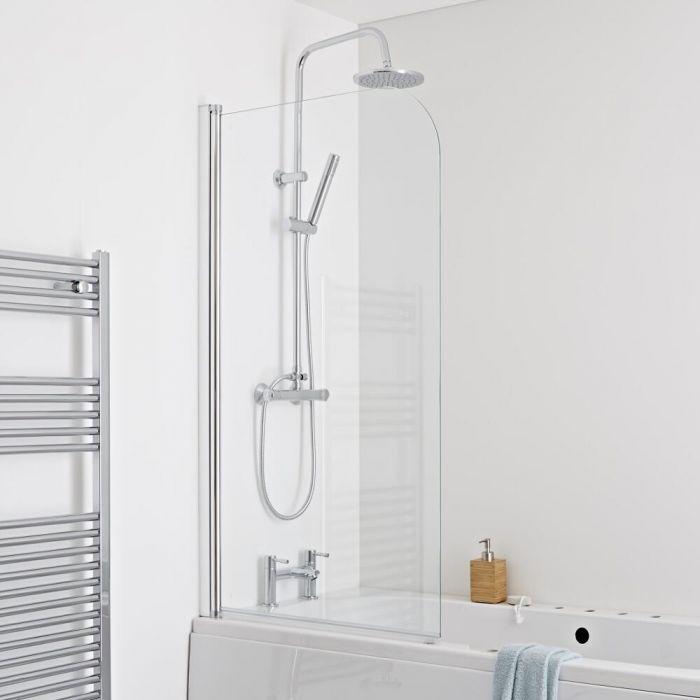 Milano Portland - Bath Shower Screen - Easy Clean Glass