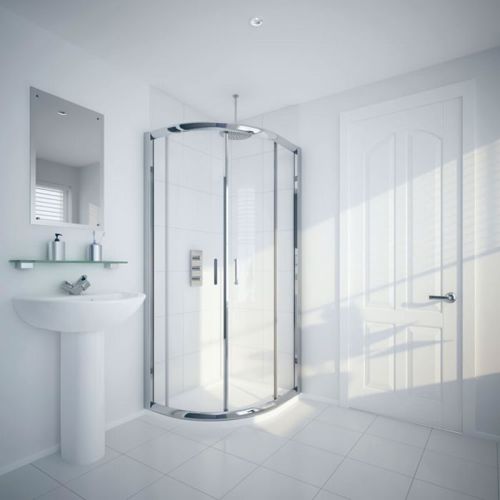Milano Hutton 1000x800mm Offset Shower Enclosure 5mm
