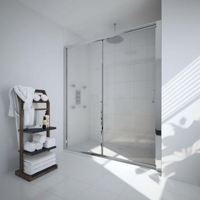 Milano Portland 1100mm Sliding Shower Door 6mm