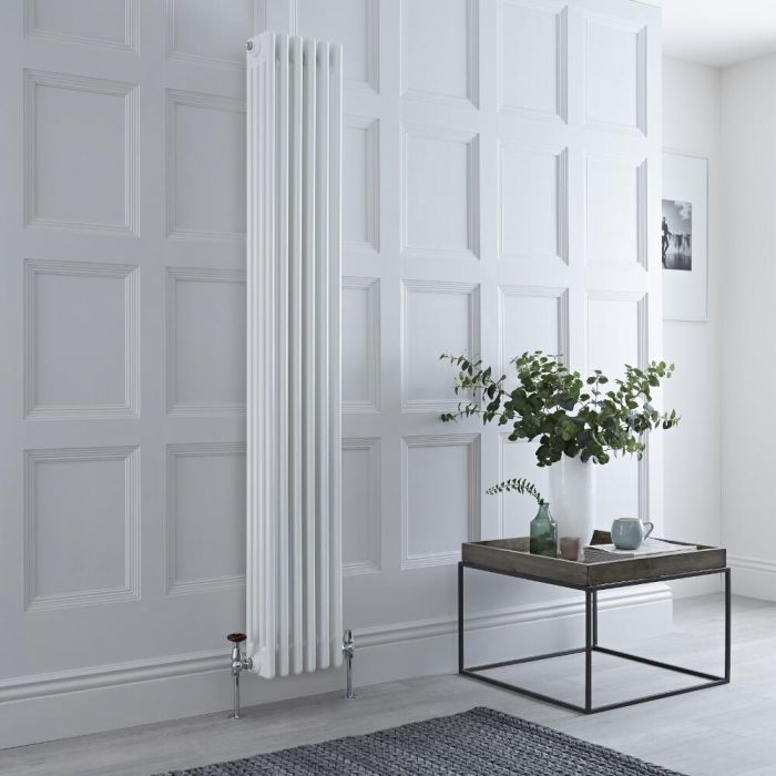 Milano Windsor - Traditional White 4 Column Radiator 1800mm x 270mm (Vertical)